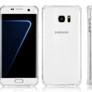 כיסוי לסמסונג גלקסי SAMSUNG GALAXY S7 EDGE שקוף עם במפרים – SHOCK PROOF