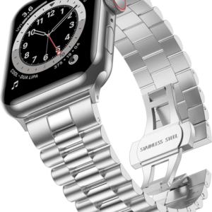 רצועת מתכת לשעון אפל בצבע כסף